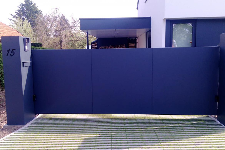 Metalen poort (zwart)