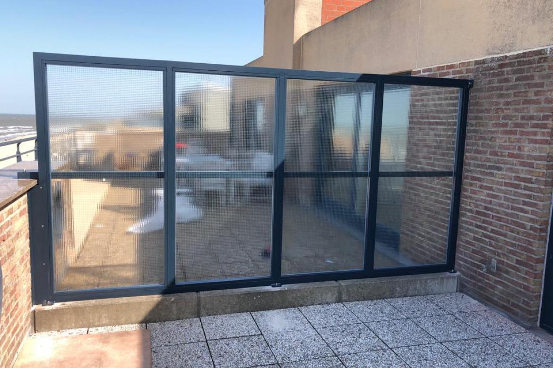 terrasscherm glas